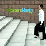 Climb stairs with good posture