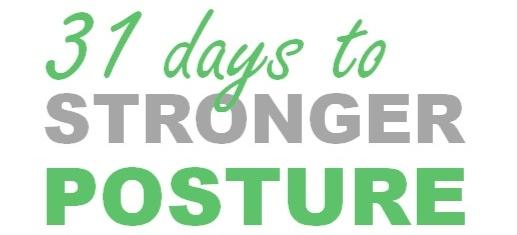 31 day posture challenge